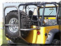 Overkill Jeep tire carrier and cage CJ
